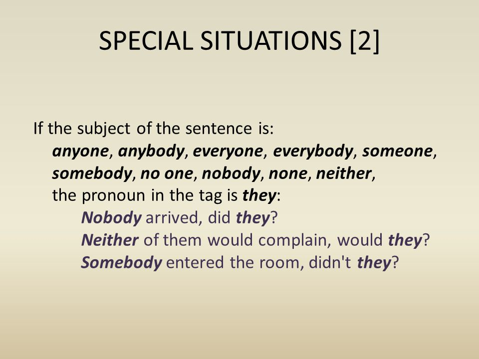 SPECIAL SITUATIONS [2]